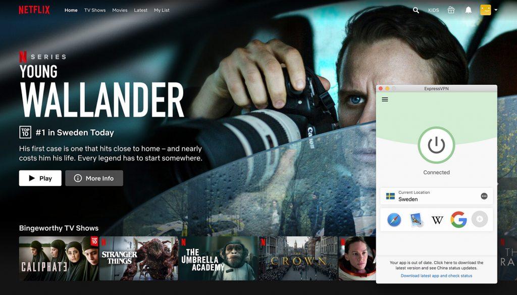 Watch Netflix Sweeden library by ExpressVPN the best VPN for Netflix