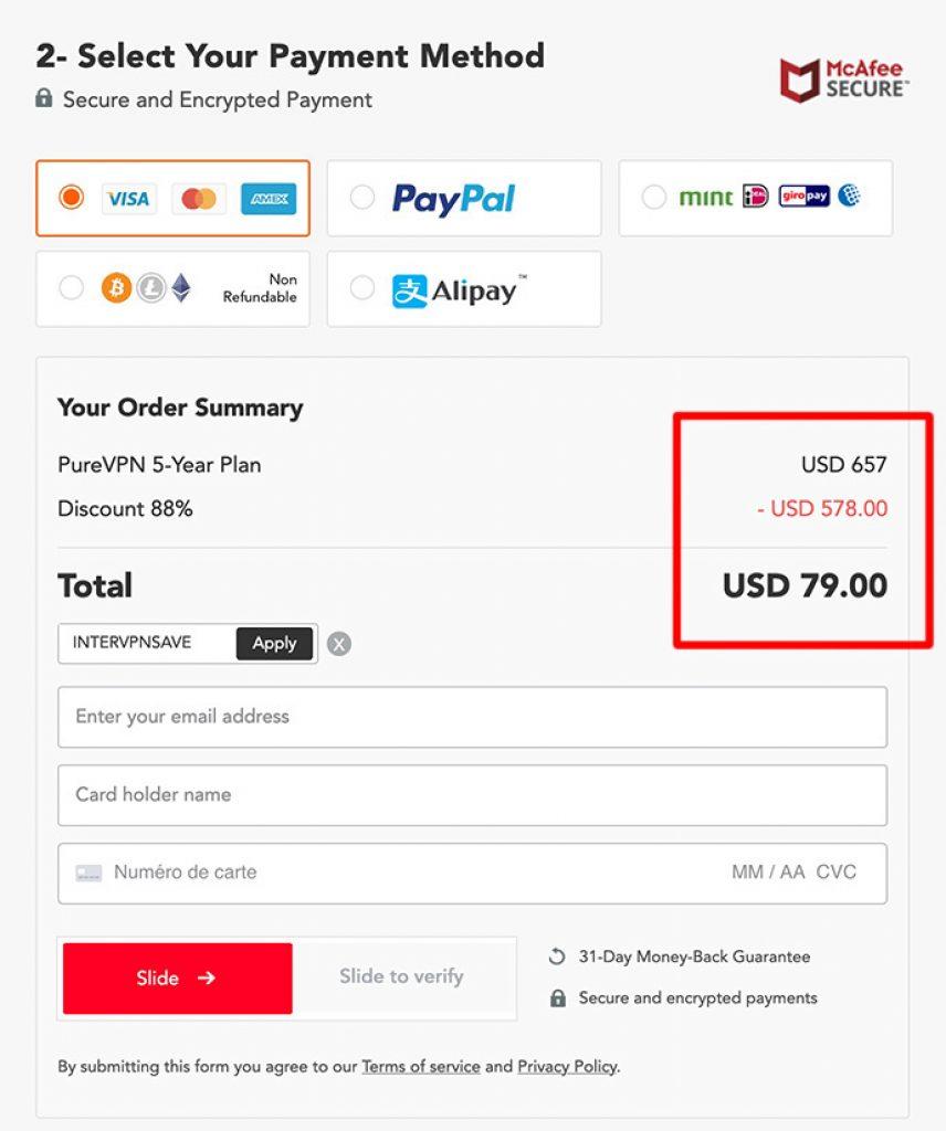 purevpn black friday coupon deal 88% OFF