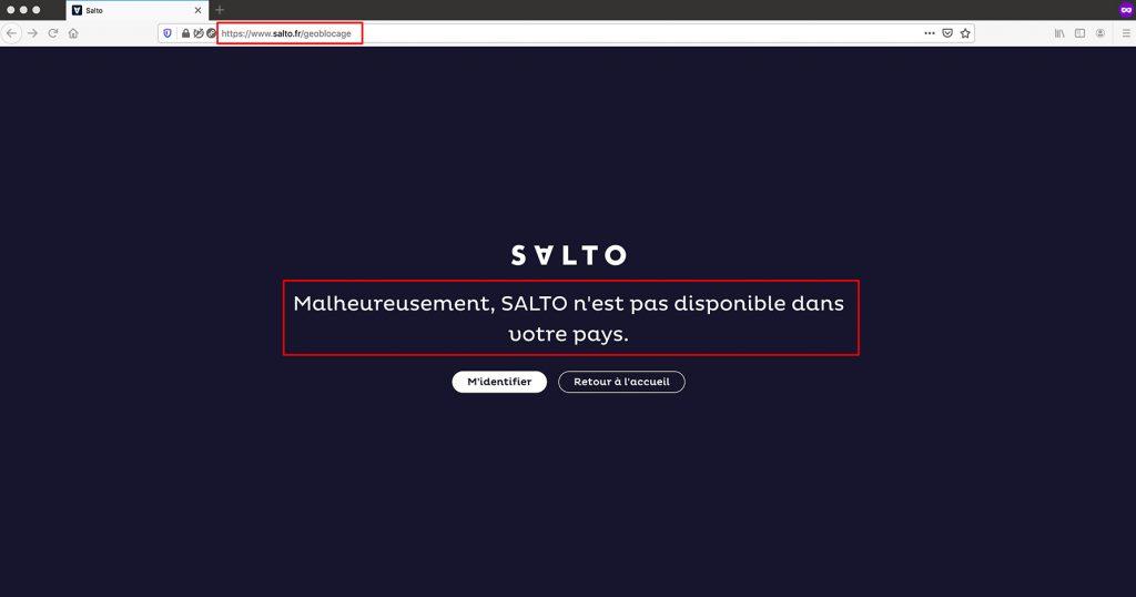 Accéder SALTO hors de France - SALTO pas disponible dans votre pays