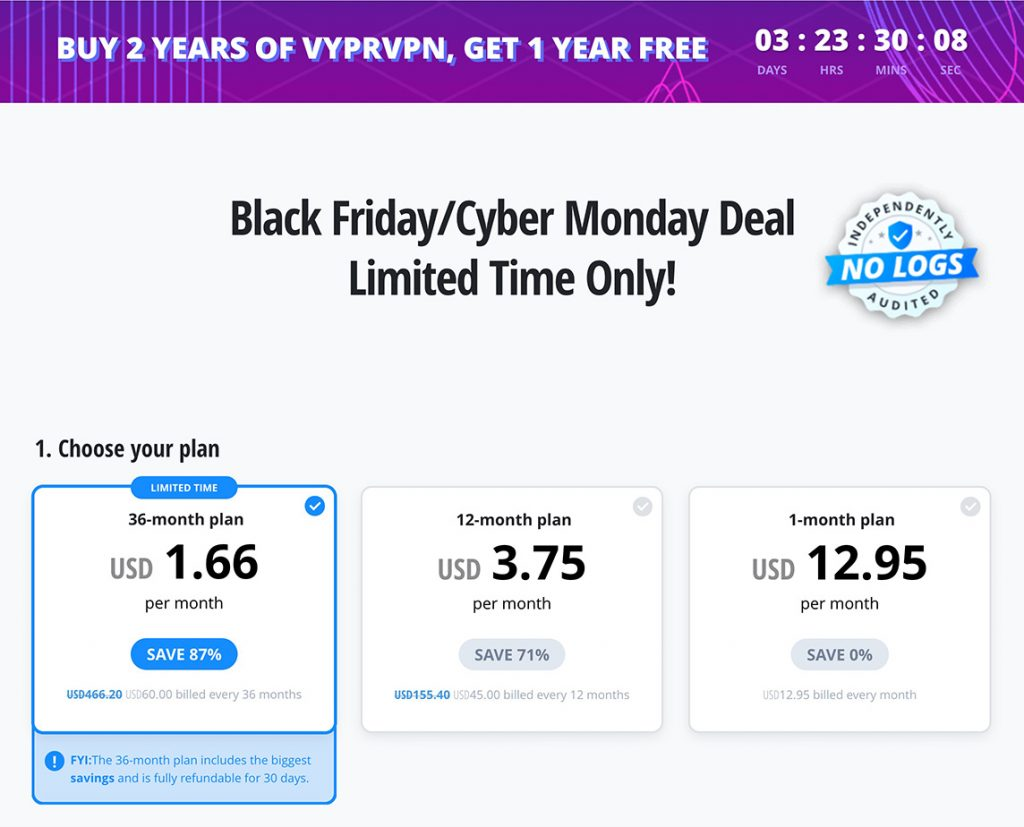 VyprVPN 87% Off - Black Friday - Cyber Monday Deal