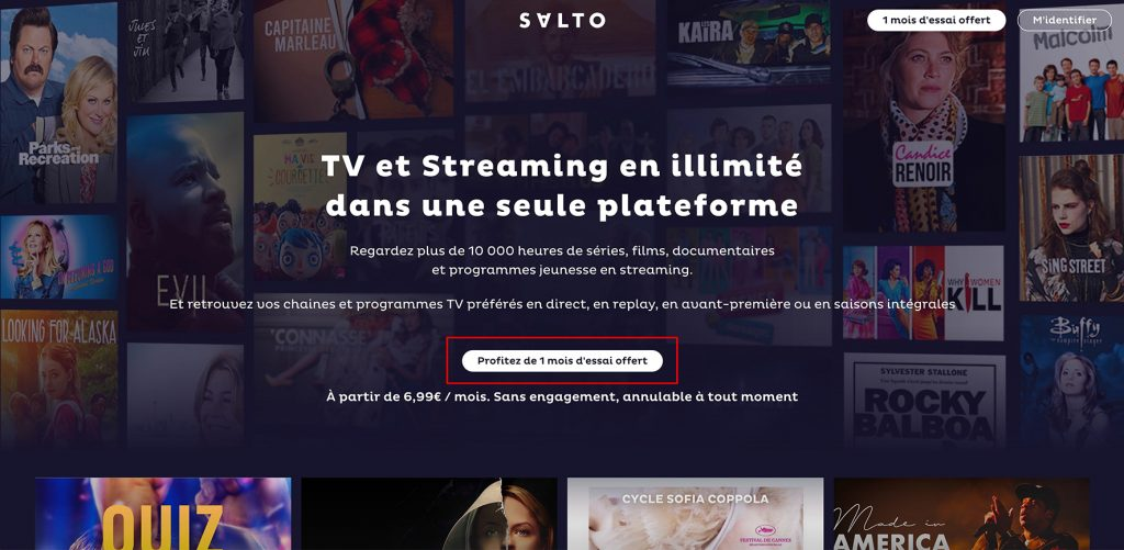 Watch SALTO outside France - free 1 month Salto