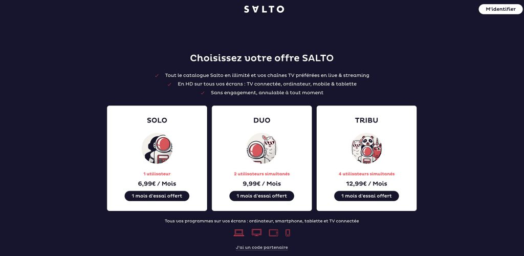 Watch SALTO outside France - Plan and Price of Salto