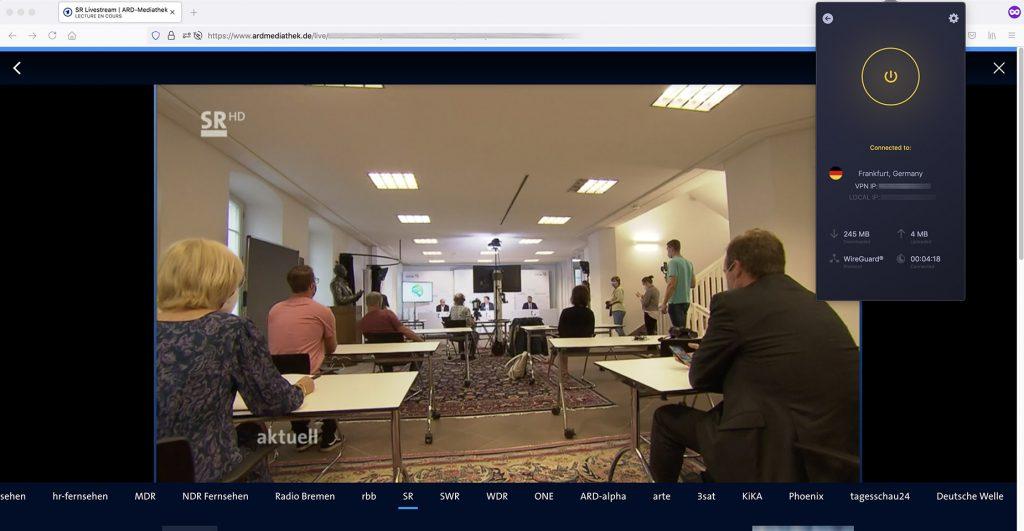 Livestream ARD SR