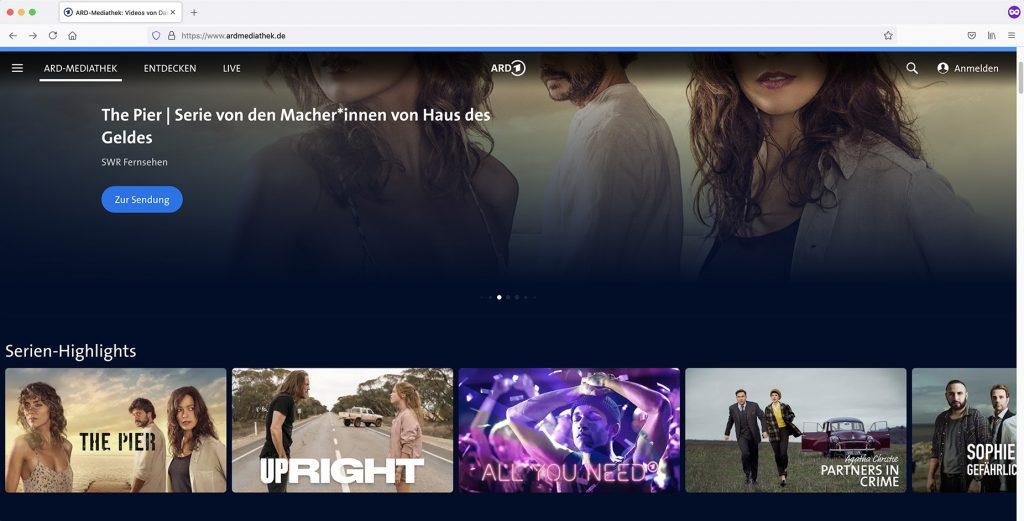 watch ARD Mediathek On-Demand Video abroad