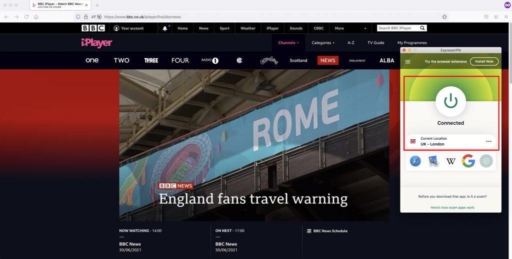 Watch BBC iPlayer outside UK - BBC News Channel abroad