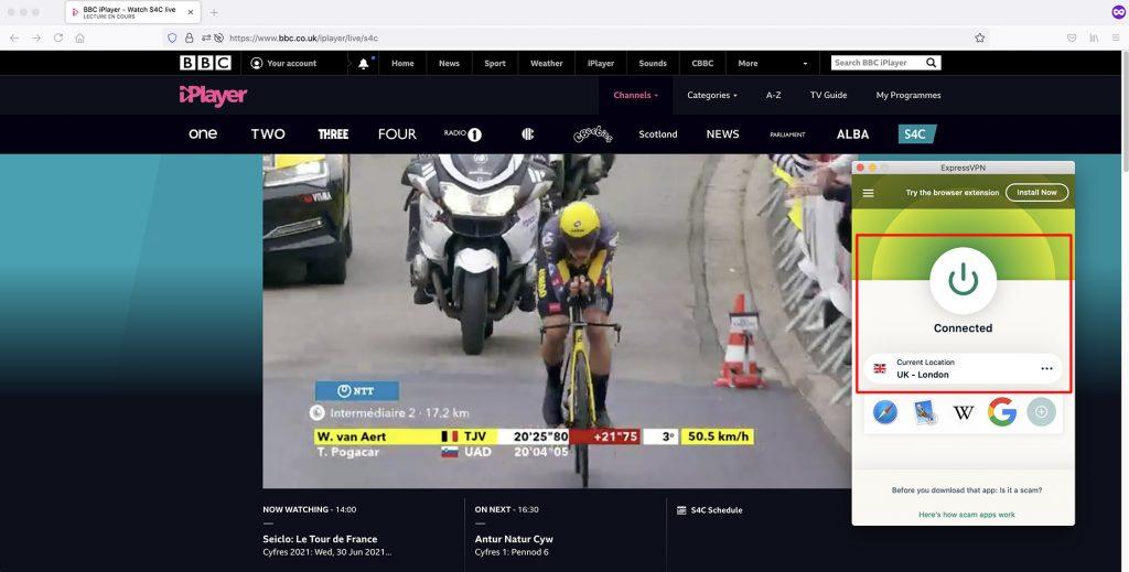 Watch BBC S4C outside UK