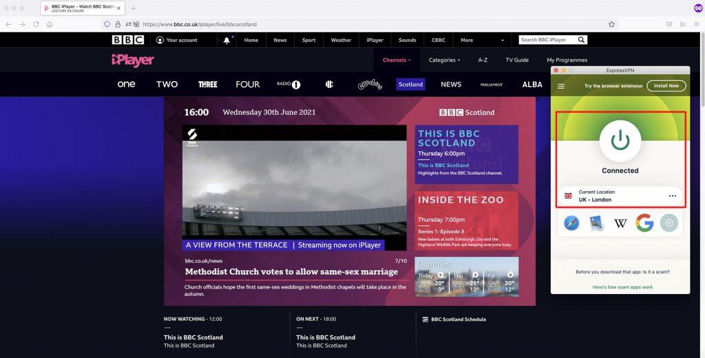 Watch BBC channels outside UK - BBC Scotland abroad