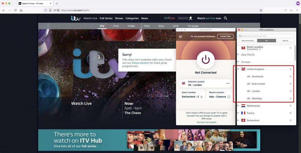 itv outside UK - vpn work with itv - UK IP