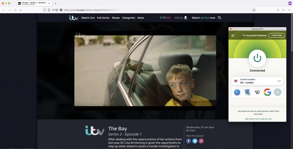 Watch ITV Series - on-demand abroad work with VPN