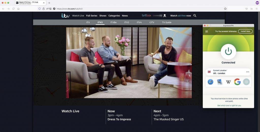 iTV2 outside UK works with VPN