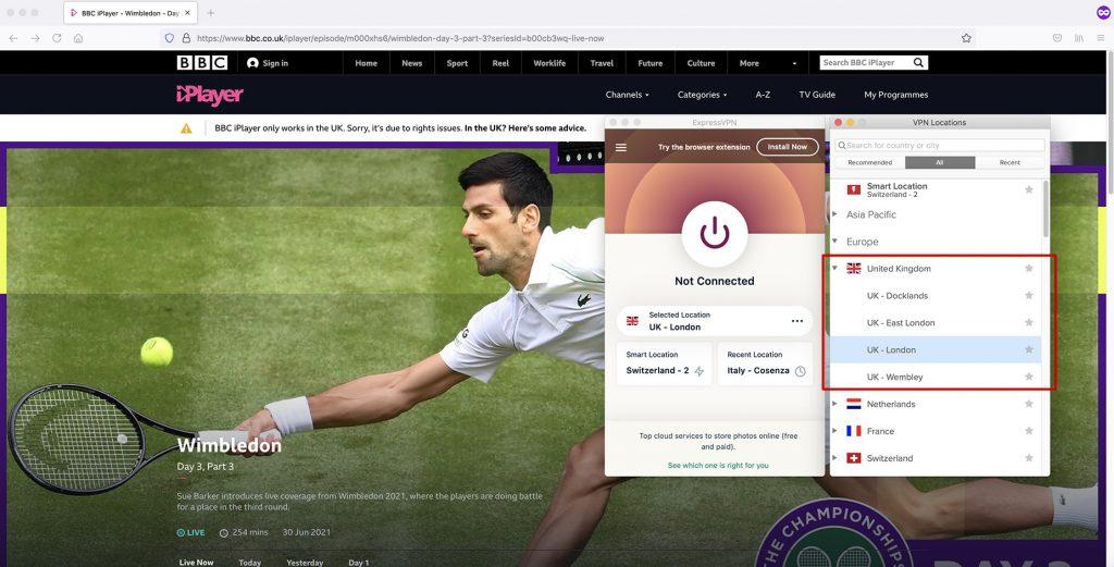 BBC iPlayer working UK VPN
