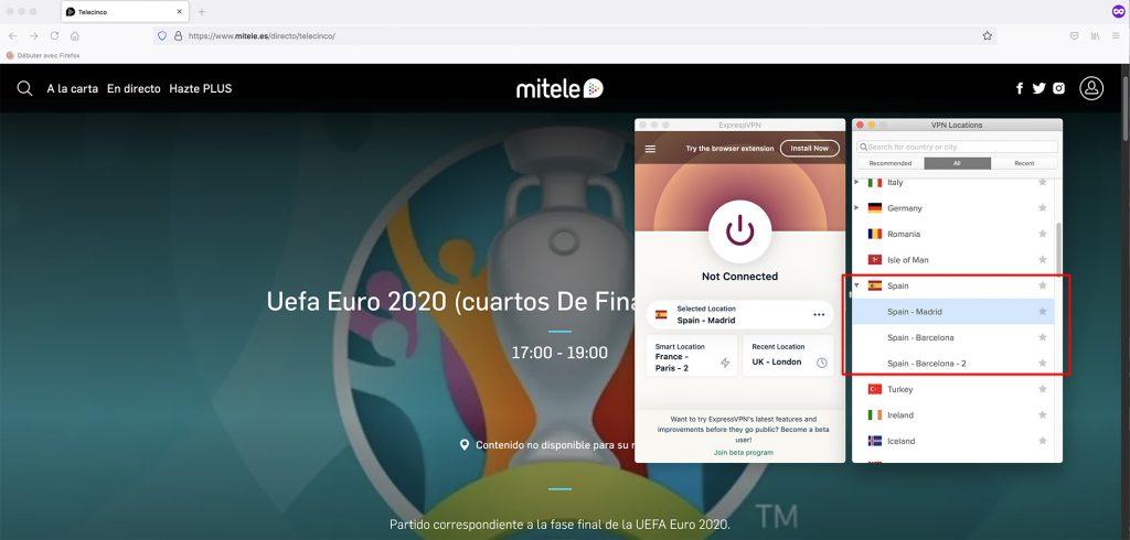 Mitele outside spain geo-blocking error - working VPN
