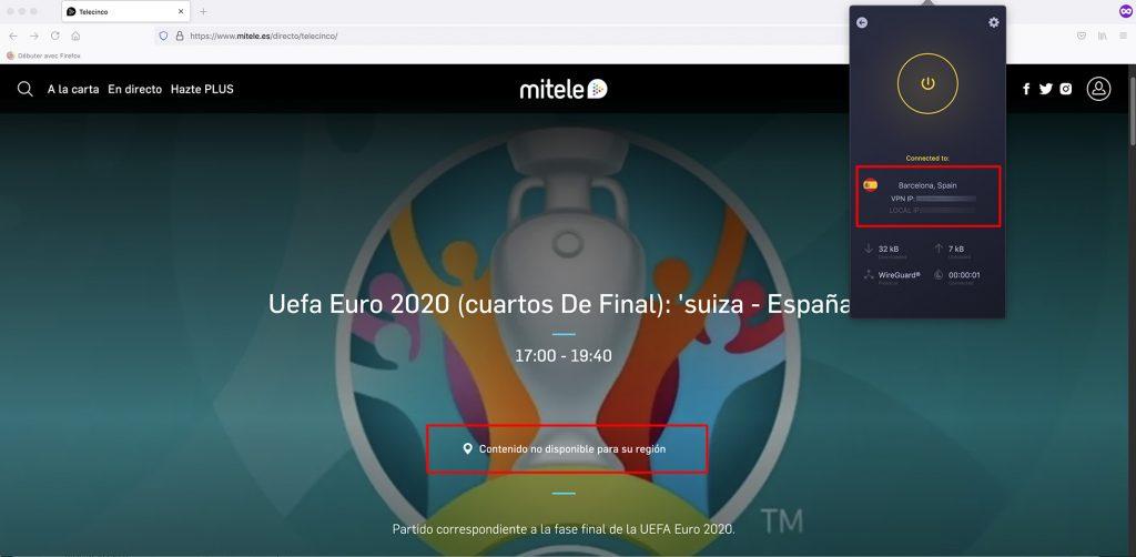 Mitele streaming geo-blocked abroad