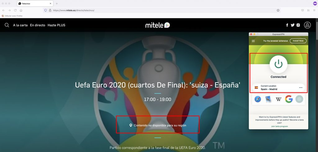 Mitele outside spain - working VPN