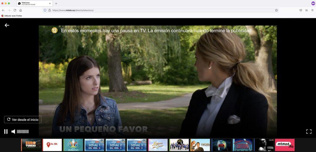 Mitele publicidad - Telecinco Livestream outside spain