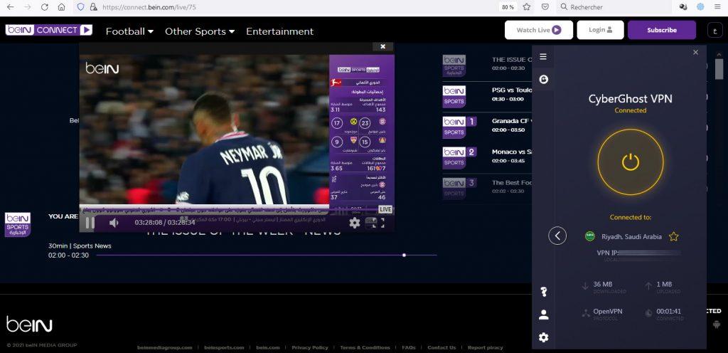 watch bein sports in uk - free beIN channel working VPN