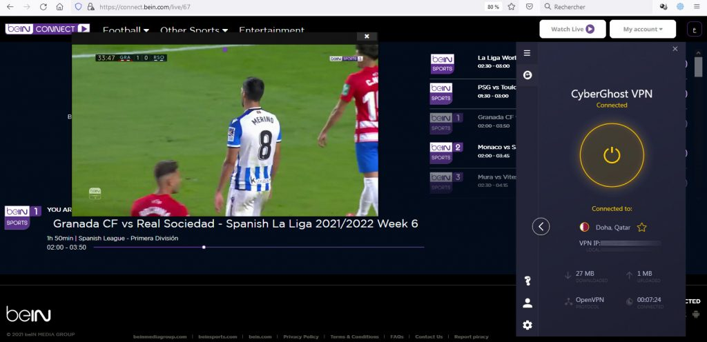 watch bein sports in uk - premium beIN channel working VPN